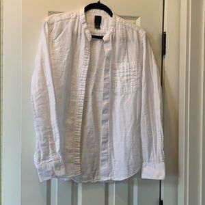 Men's H&M Banded Collared Button Down Shirt.